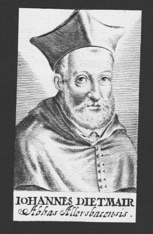 1680 - Johannes Diethmaier Theologe Professor Allersbach Kupferstich Portrait