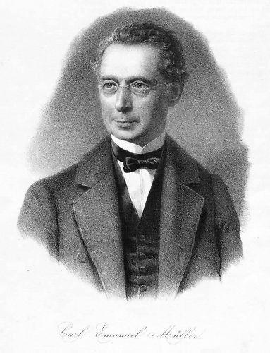 1860  Karl Emanuel Müller Altorf Schweiz Litho Portrait