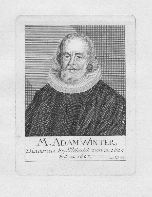 18. Jh. Adam Winter Diakon Theologe St. Sebald Sebalduskirche Nürnberg Portrait