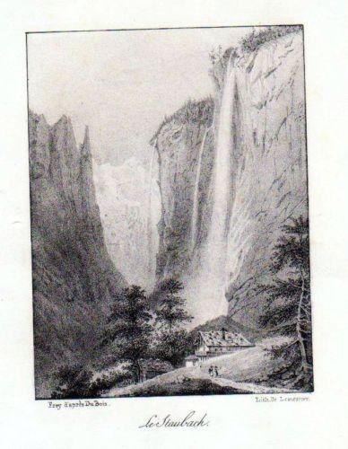 1840 - Le Staubach Schweiz Suisse Lithographie