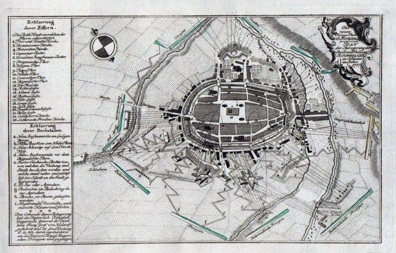 1765 - Schweidnitz Swidnica Polen Poland Kupferstich engraving 58227