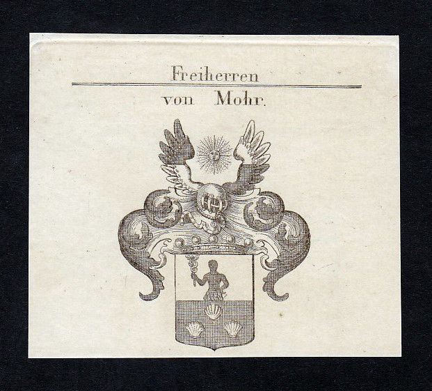 1820 Johann Friedrich Mohr Wappen Adel coat of arms Kupferstich engraving