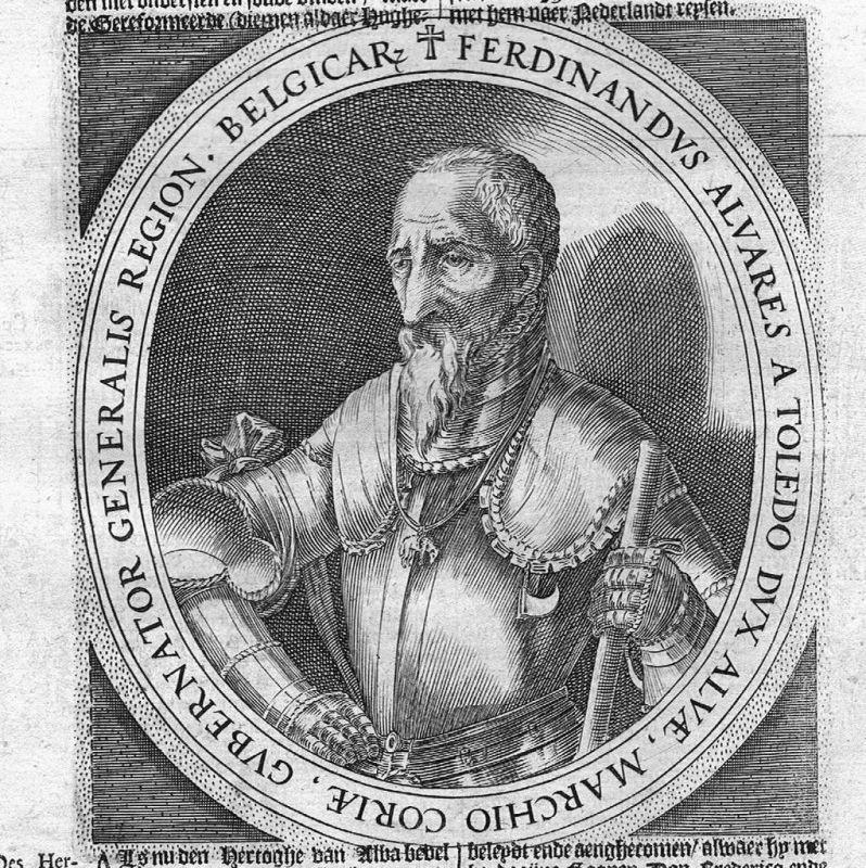 1620 - Fernando Alvarez de Toledo Alba Kupferstich Portrait gravure engraving