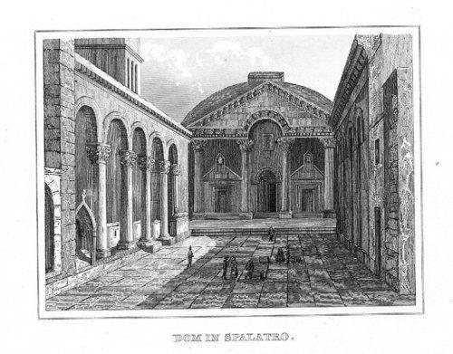 1840 - Split Croatia Kroatien engraving Stahlstich 51037