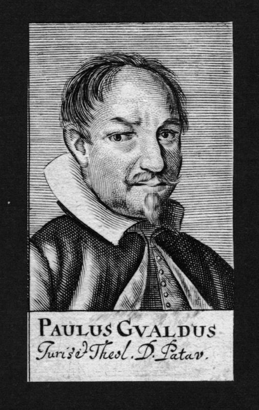 1680 - Paulus Gualdus Jurist lawyer Professor Italien Italy Kupferstich Portrait