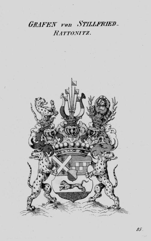 1820 - Stillfried Rattonitz Wappen Adel coat of arms Heraldik crest Kupferstich