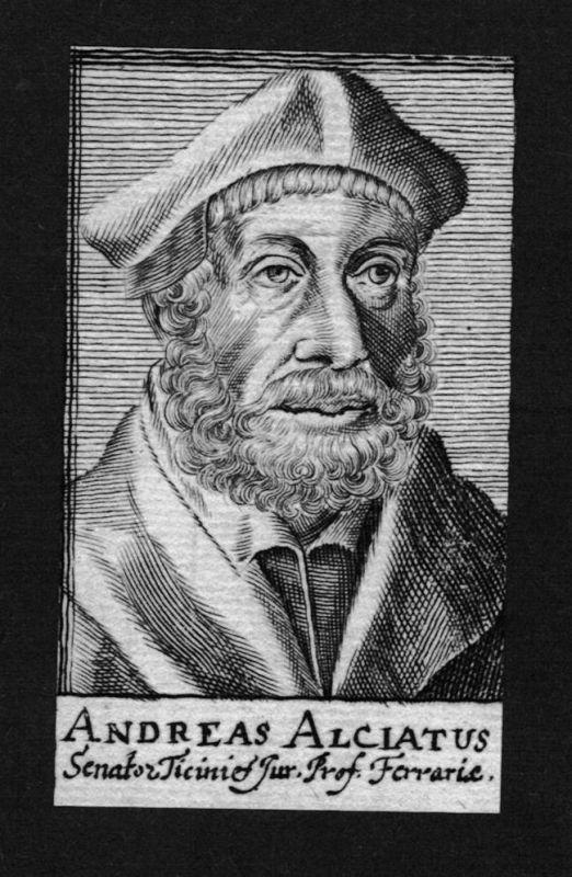 1680 - Andrea Alciato Jurist lawyer Humanist Italien Italy Kupferstich Portrait