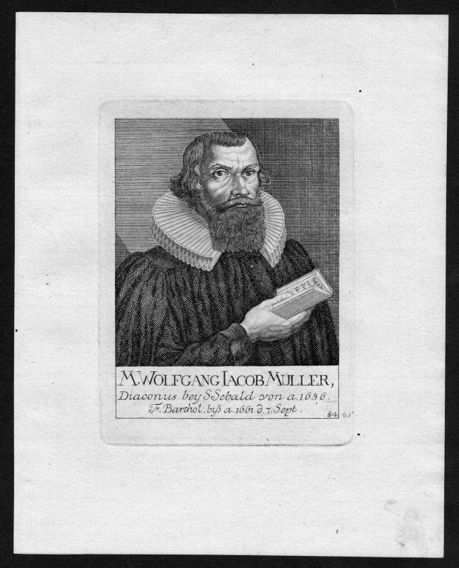 18. Jh. Wolfgang Müller Diakon St. Sebald Sebalduskirche Nürnberg Portrait
