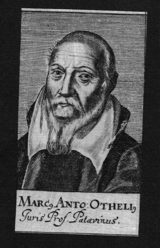1680 - Marcus Antonius Otheli Jurist lawyer Italien Italy Kupferstich Portrait