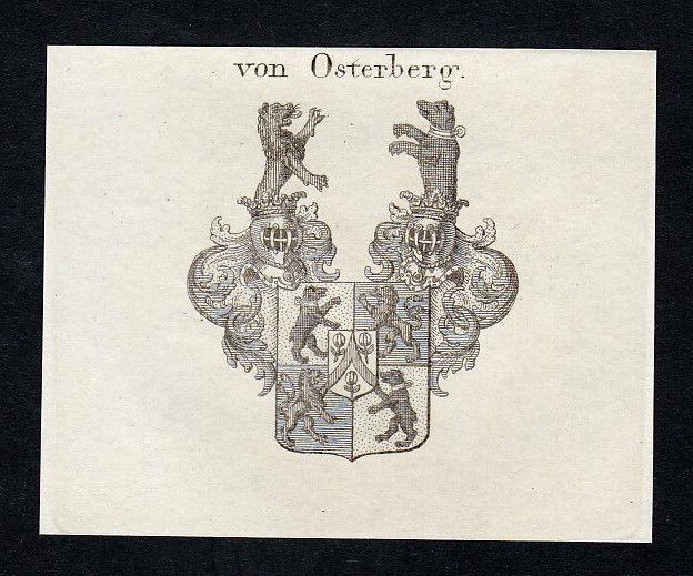 1820 Osterberg Osterperg Böhmen Wappen Adel coat of arms Kupferstich engraving