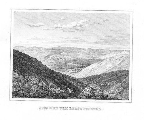 1840 - Promina Croatia Kroatien Original Stahlstich