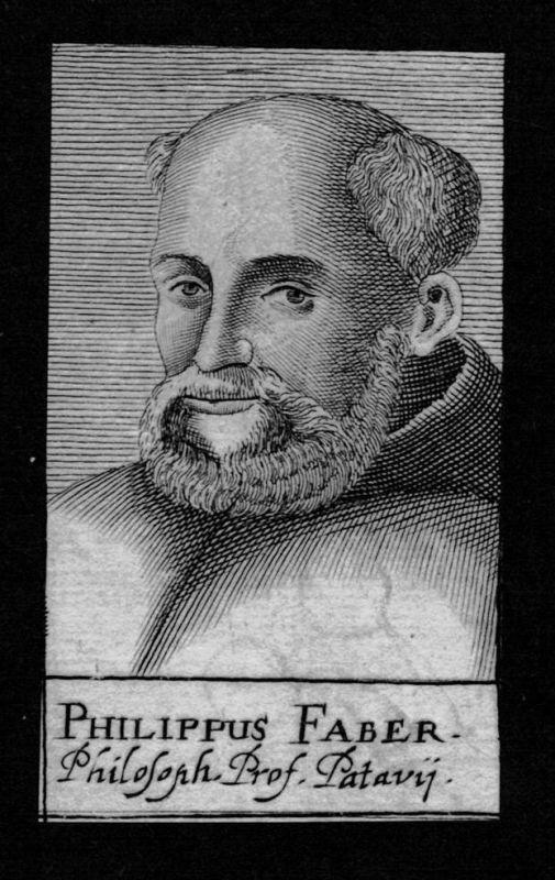 1680 - Philip Faber Fabri Professor Padova Padua Italien Kupferstich Portrait