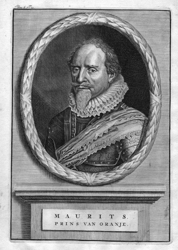 1700 - Moritz von Oranien Maurits van Oranje Kupferstich Portrait gravure