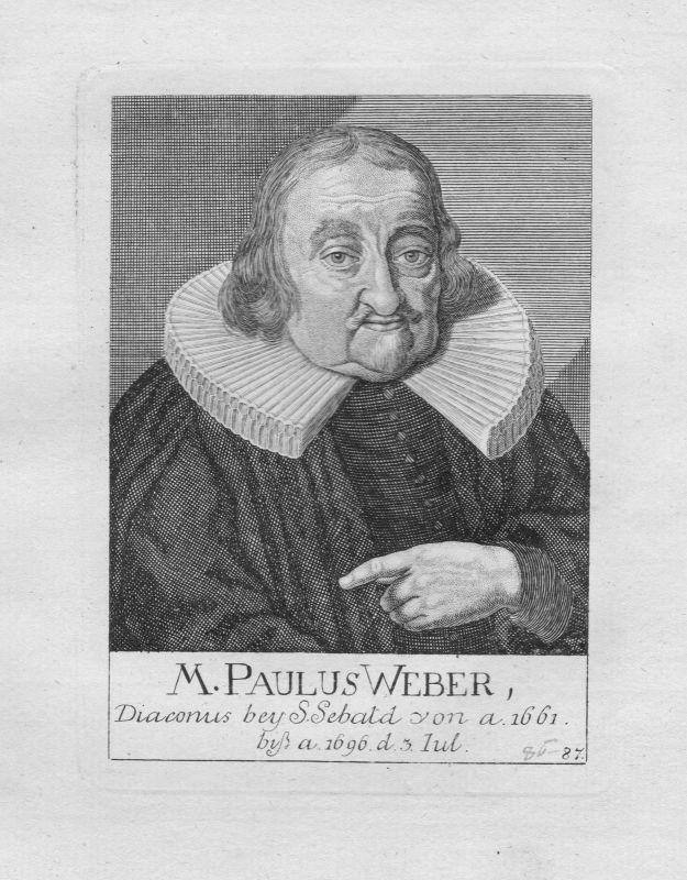 18. Jh. Paulus Weber Diakon Theologe St. Sebald Sebalduskirche Nürnberg Portrait
