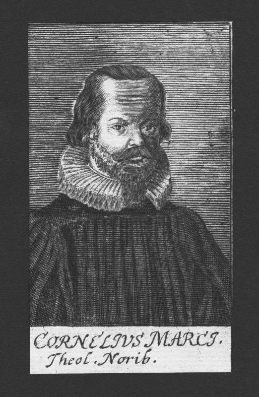 1680 - Cornelius Marcius Theologe Professor Nürnberg Kupferstich Portrait