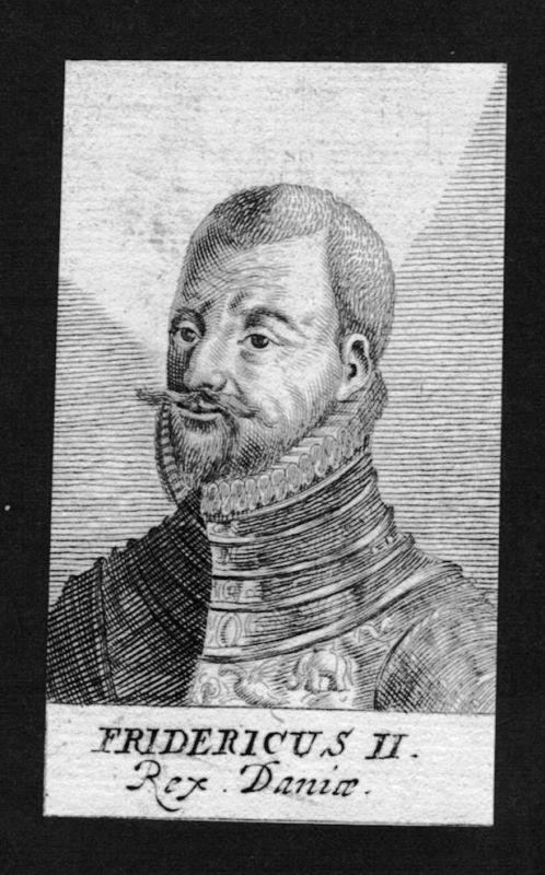 1680 - Friedrich II Frederick König Dänemark Norwegen Kupferstich Portrait