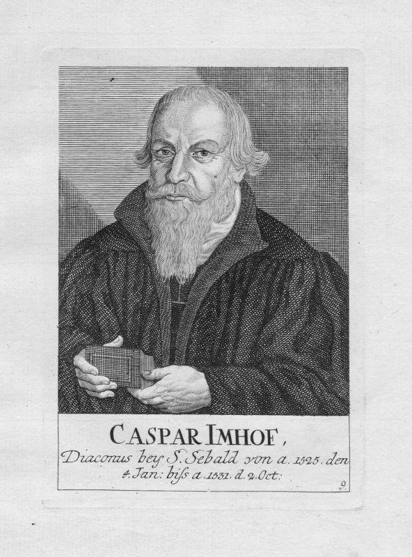 18. Jh. Caspar Imhof Diakon Theologe St. Sebald Sebalduskirche Nürnberg Portrait