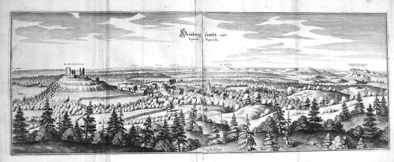 Heimburg Regenstein Sachsen-Anhalt Blankenburg Kupferstich engraving Merian