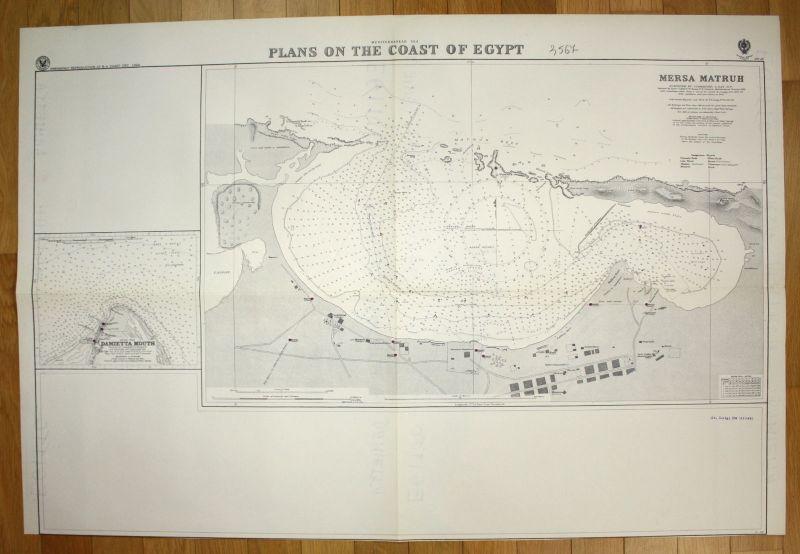 1940 Mediterranean Sea Plans on the Coast of Egypt - Mersa Matruh Ägypten 147770