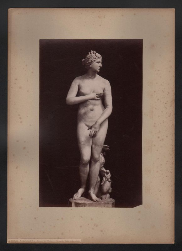 1890 Firenze Galleria Uffizi Venere de Medici Venus Uffizien antique Photo