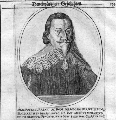 1650 - Georg Wilhelm Kurfürst v. Brandenburg Portrait Kupferstich engraving