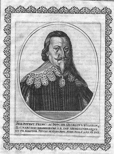 1650 - Georg Wilhelm v. Brandenburg Kurfürst Portrait Kupferstich engraving