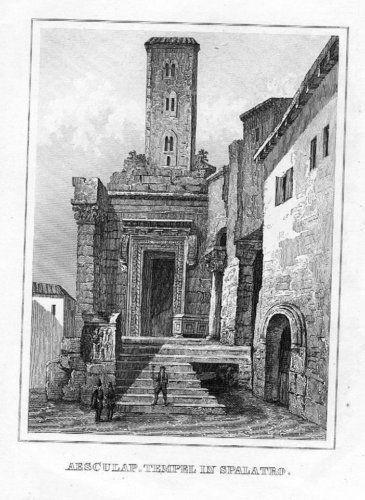 1840 - Split Croatia Kroatien engraving Stahlstich 51032