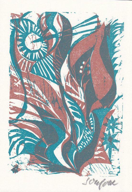 2003 Ruth Schefold Hans Arp Linolschnitt zu Gedicht