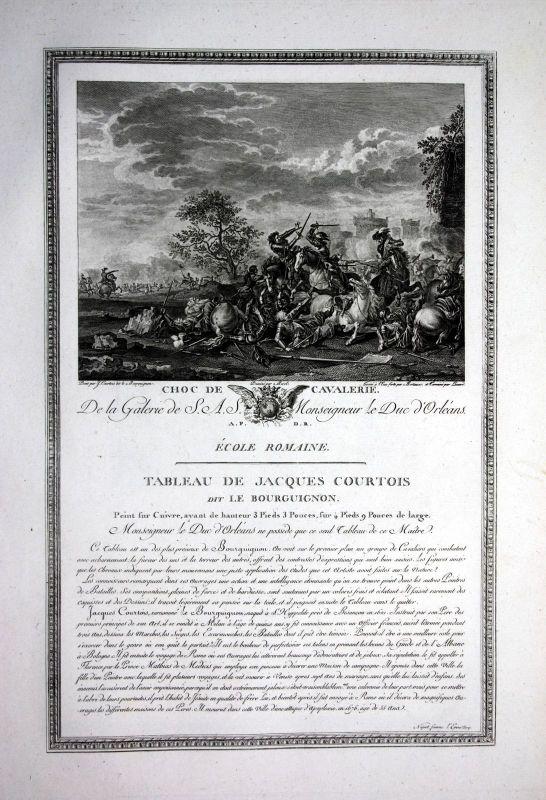 1786 Schlacht battle bataille Militaria Kupferstich antique print Courtois