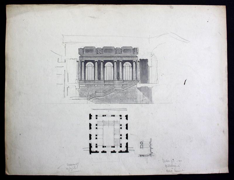 Treppe stairs Architektur architecture design Handzeichnung drawing Cuminal