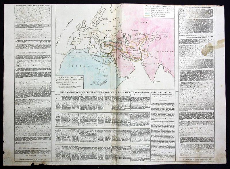 1803 Europe Africa Asia Karte map Kupferstich antique print Le Sage