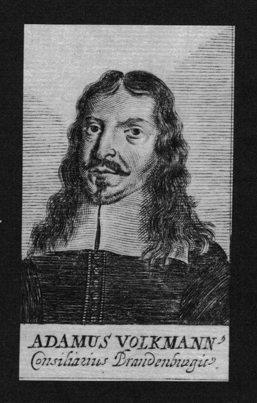 1680 - Adam Volkmann Jurist lawyer Professor Brandenburg Kupferstich Portrait