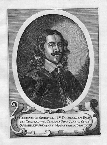 1700 - Gerhard Schepeler Osnabrück Portrait Merian