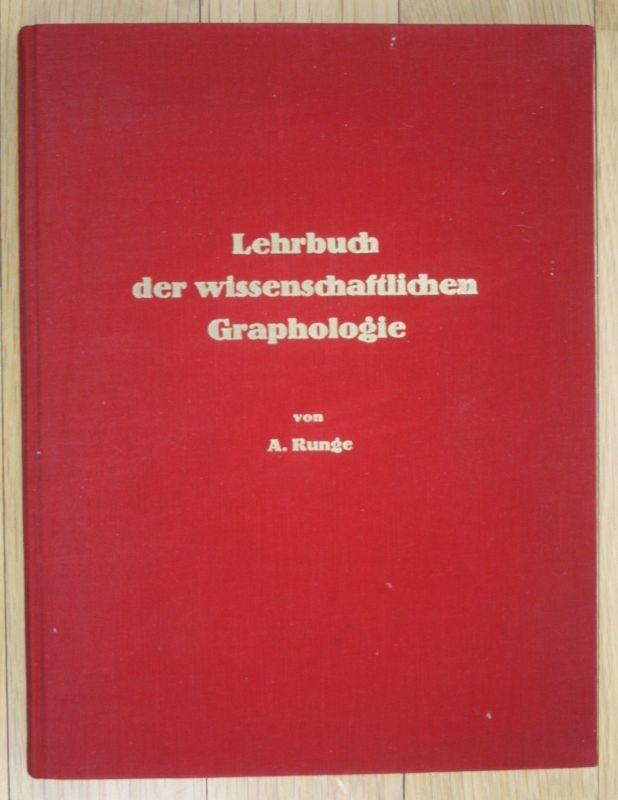 1935 Runge Lehrbuch der Wissenschaftlichen Graphologie