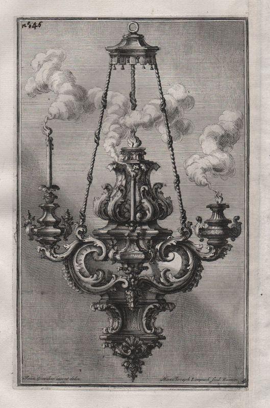 1720 Kronleuchter chandelier candles Leuchter silver silversmith design b 148397