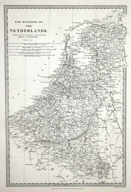 1830 Niederlande Netherlands Kingdom Königreich Antwerpen Anvers SDUK Karte map