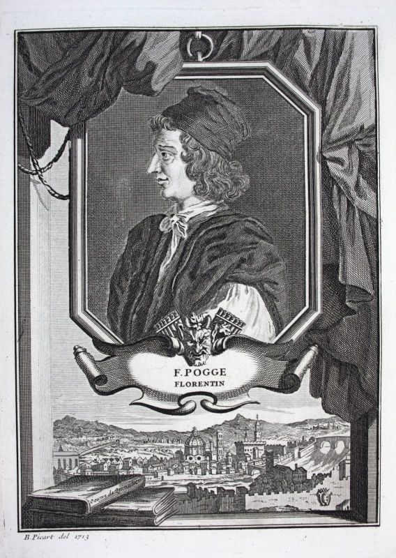 18. Jh. F Pogge Humanist Jurist advocat Florenz Fierenze Italien Italy Portrait