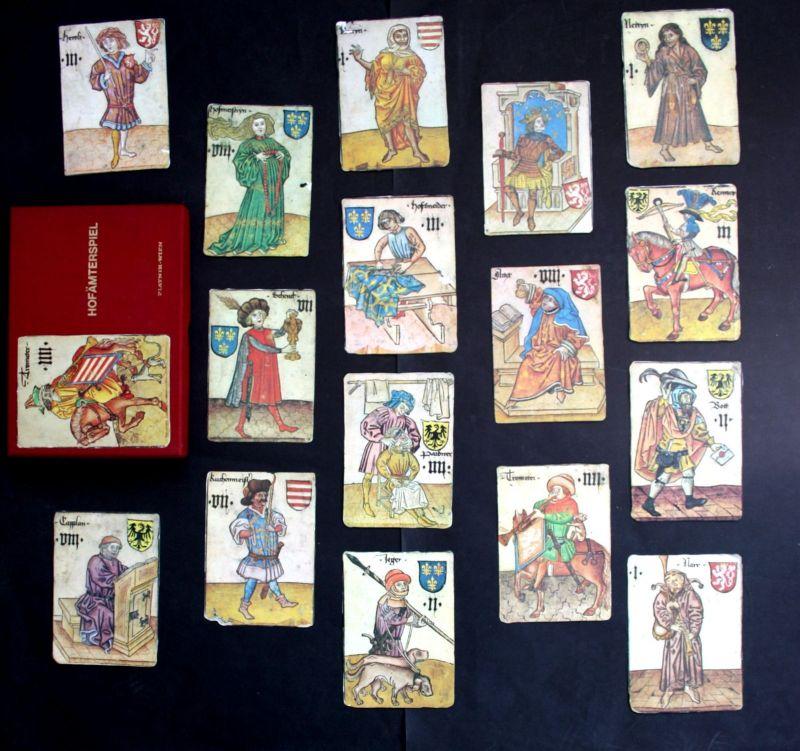 Hofämterspiel 1976 Spielkarten Kartenspiel Faksimile playing cards game Spiel