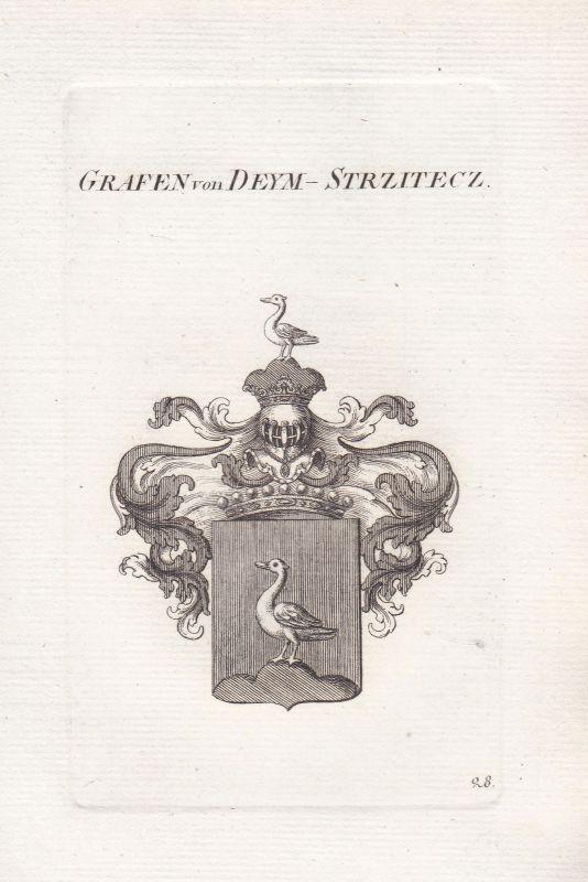 Deym Strzitecz Böhmen Bohemia Uradel Wappen coat of arms Heraldik heraldry 1820