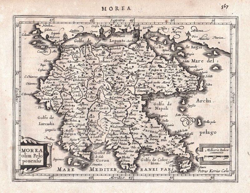Griechenland Peloponnes Karte Deutsch.Greece Griechenland Achaia Achaea Peloponnes Peloponnese Map Karte Mercator