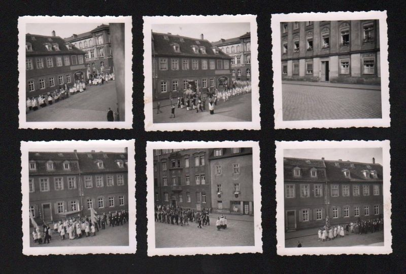 1940 Bamberg Heinrichsprozession Festzug 6 x Original Foto Fotos Chronik photo