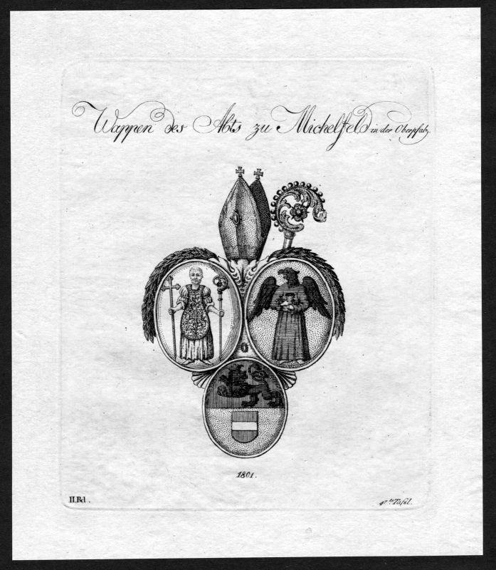 1801 - Kloster Michelfeld Oberpfalz Wappen Adel coat of arms heraldry Heraldik