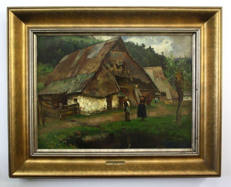 Josef Wopfner Gemälde Sarntheim signiert Ölgemälde Chiemsee painting signed