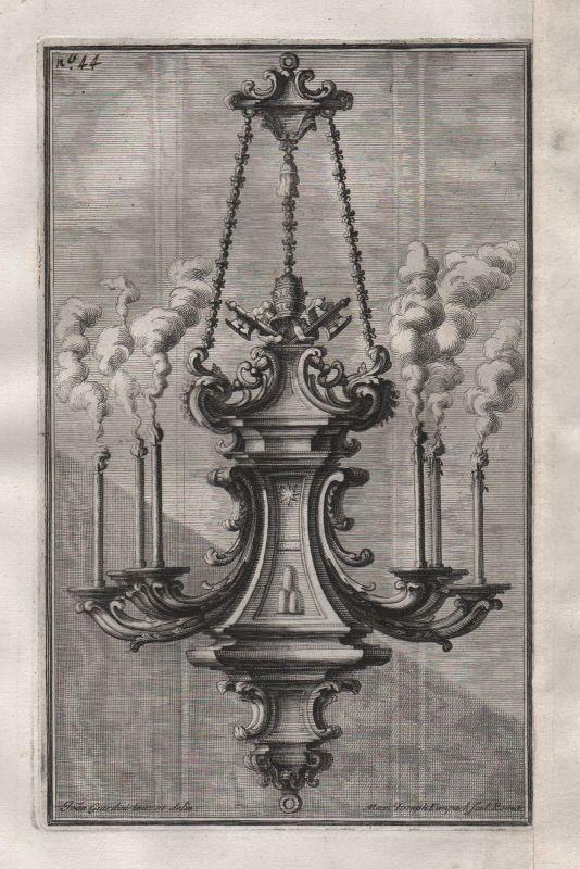 1720 Kronleuchter chandelier candles Leuchter silver silversmith design baroque