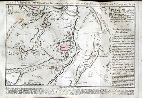 1770 - Schweidnitz Swidnica Polen Poland Kupferstich 77814
