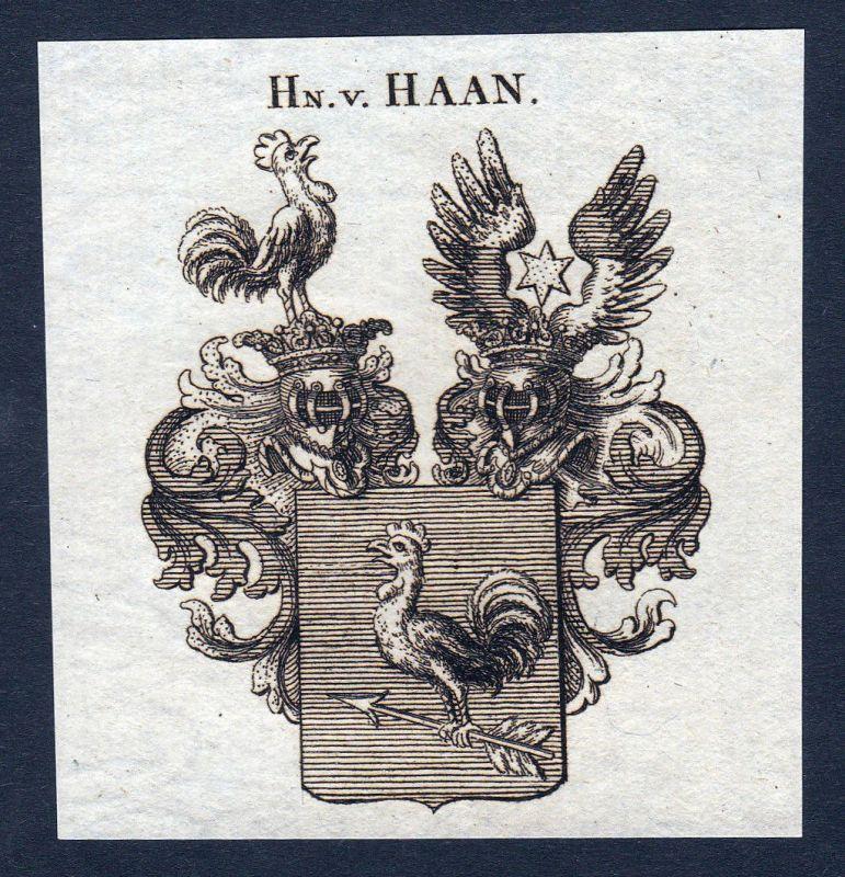 Haan Nordrhein-Westfalen Wappen Adel coat of arms Heraldik Kupferstich engraving