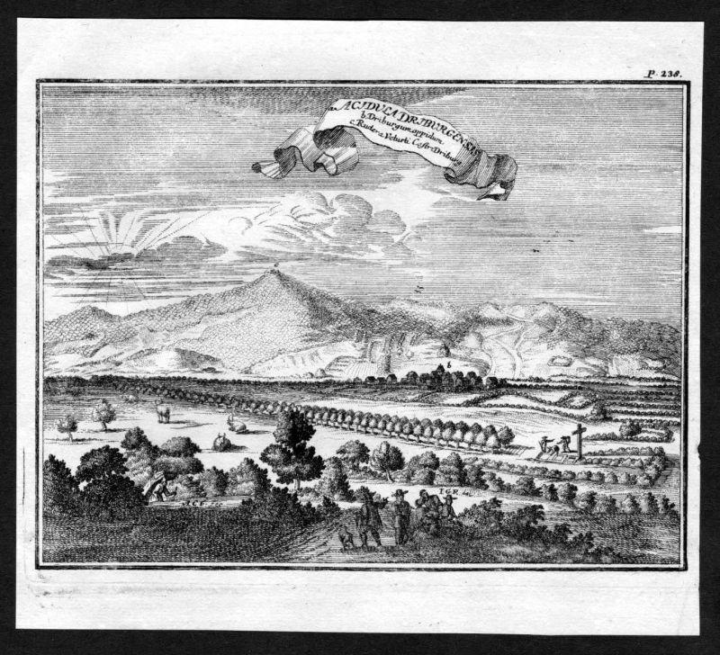 Ca. 1672 Bad Driburg Gesamtansicht Kupferstich engraving
