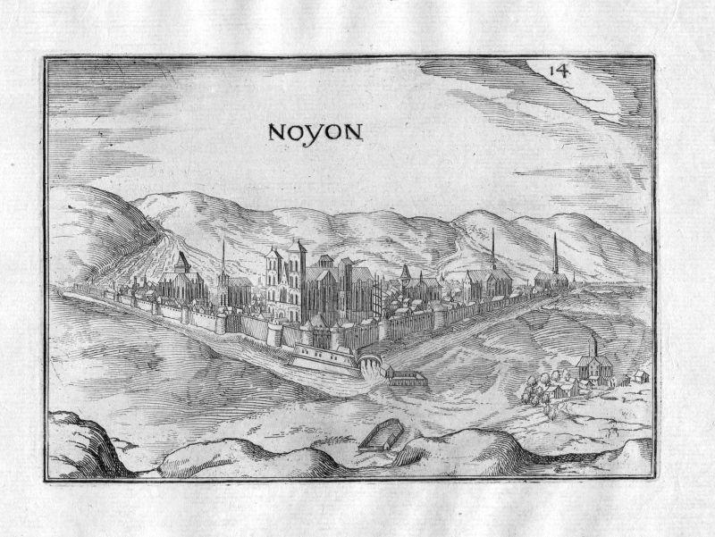 1633 Noyon vue Tassin gravure estampe Kupferstich engraving