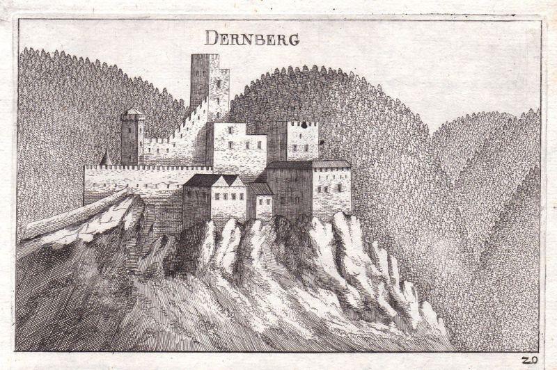 1672 Burg Scheiblingkirchen-Thernberg Kupferstich antique print Vischer