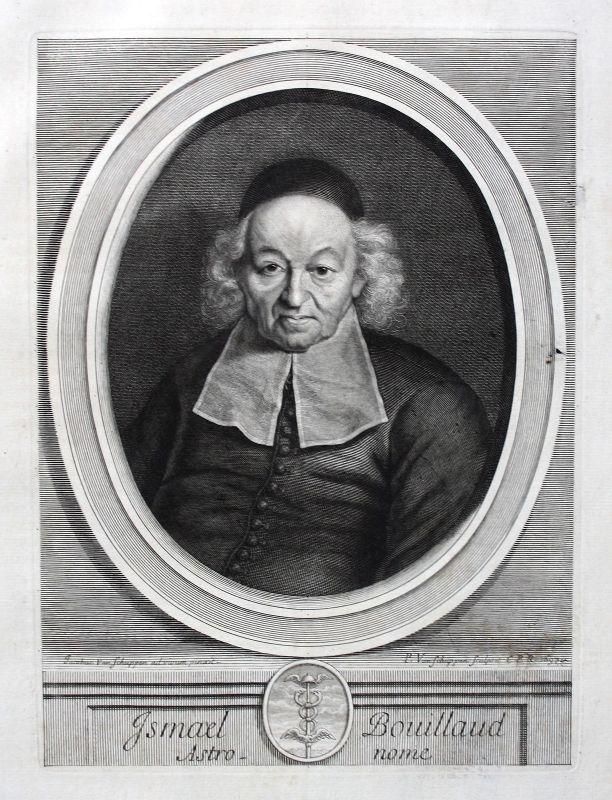 Ismael Boulliau Boulliaud Astronom astronome Portrait Kupferstich ca. 1700
